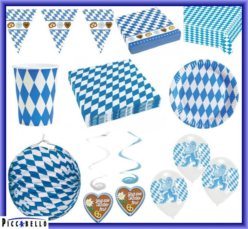 oktoberfest bavaria bayern bayrische party deko blau wei. Black Bedroom Furniture Sets. Home Design Ideas